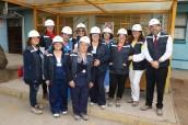 Funcionarias más antiguas visitan la obra del Nuevo Hospital en el Día Internacional de la Mujer